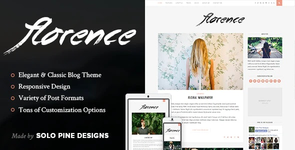 Florence v.1.5.2 WordPress Theme Free Download, Nulled