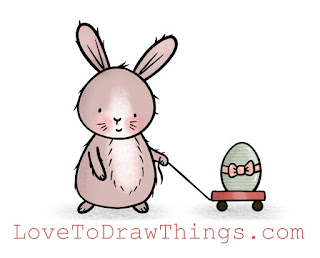 Easy Easter bunny to draw. Easter bunny tutorial. Easy beginner drawing tutorial