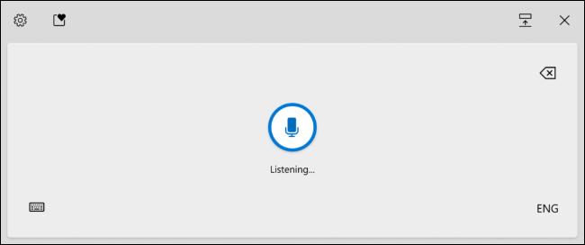 تم تنشيط Windows Voice Typing في لوحة مفاتيح Windows 10 التي تعمل باللمس.
