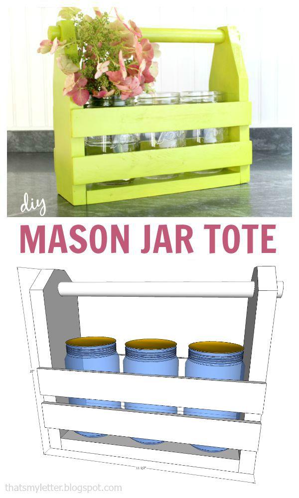 mason jar tote free plans