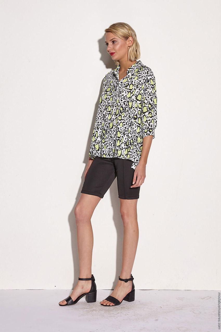 Camisas animal print verano 2020 moda mujer.