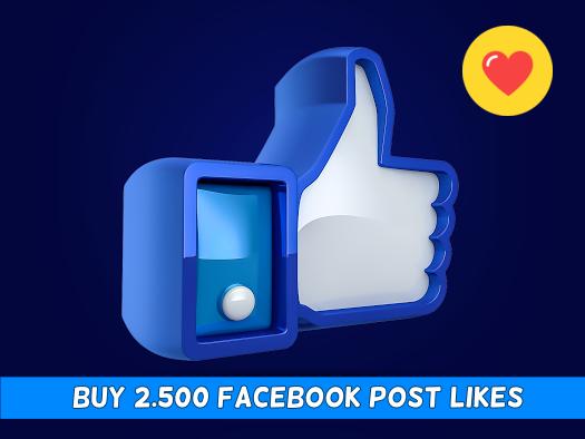 Buy 2500 Facebook Post Likes