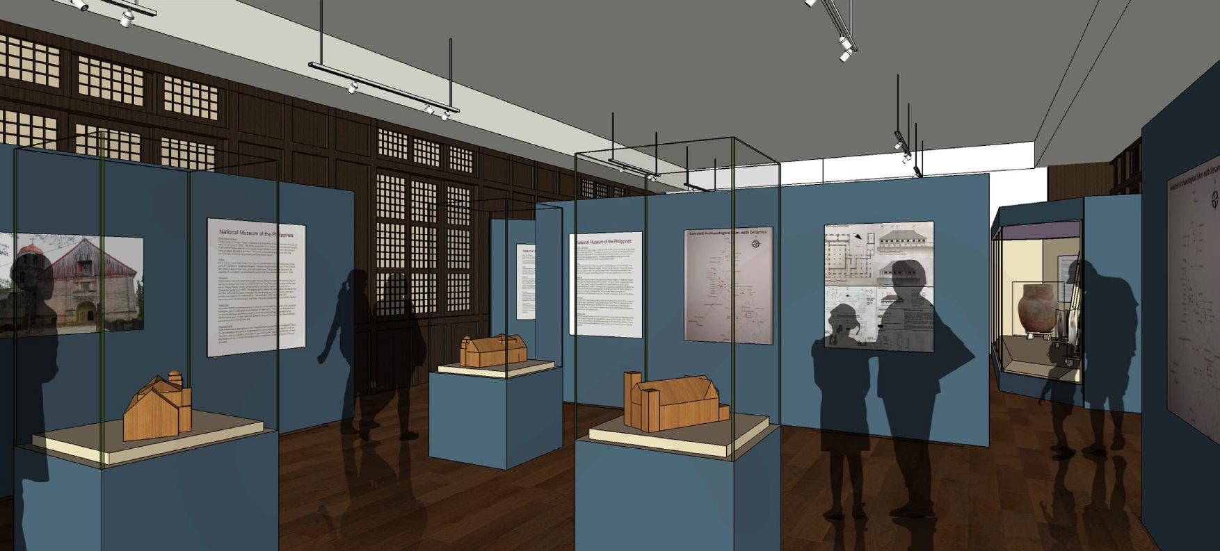 Preview rendering of future AABHD exhibitions to be housed within the Presidencia, one of the many galleries to be housed in the new regional branch of the National Museum | NMP EEMPSD 2020