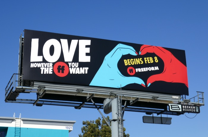 Love however the FF you want Freeform billboard