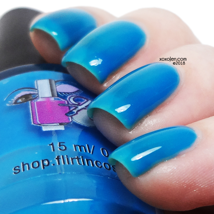 xoxoJen's swatch of Flirtin Ice-cream Cone or Blue Raspberry Italian Ice