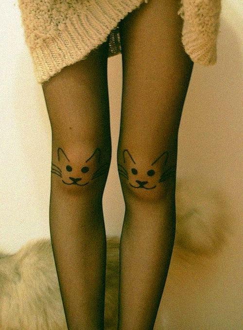 meia-calça com malhas