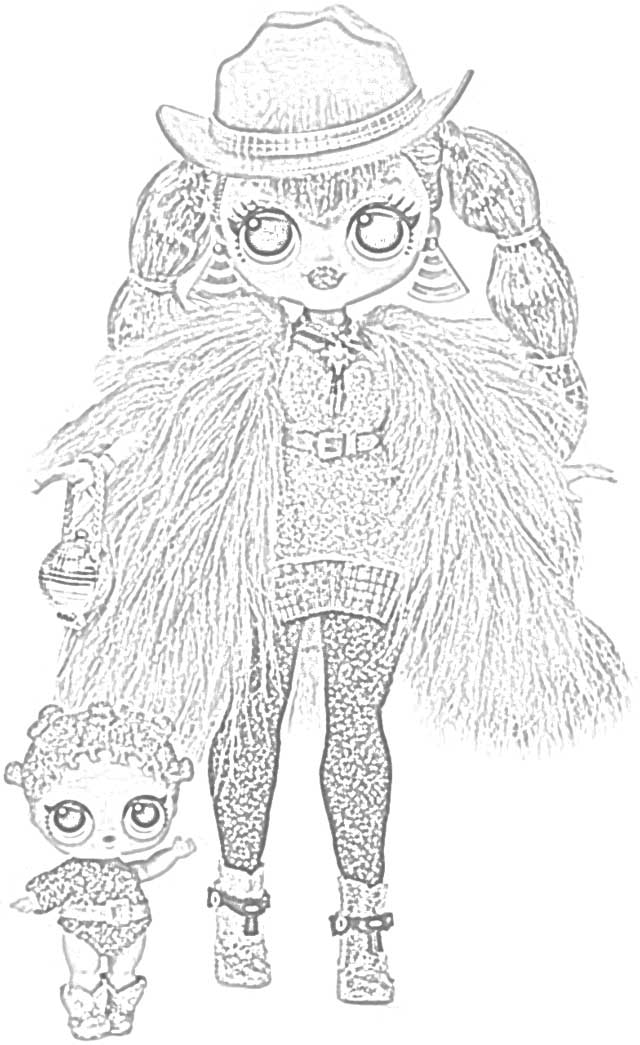 Coloring Pages: L.O.L. Surprise! O.M.G. Dolls Coloring ...