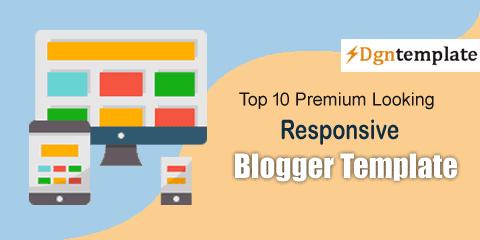 Premium Looking Best Responsive Blogger Templates