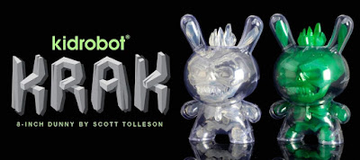 "KRAK Crystal & Protector Edition 8"" Dunny Vinyl Figures by Scott Tolleson x Kidrobot"