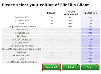 Unduh FileZilla Client 64