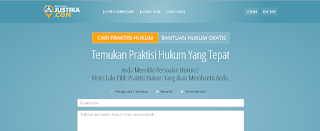 Belajar hukum di Justika.com