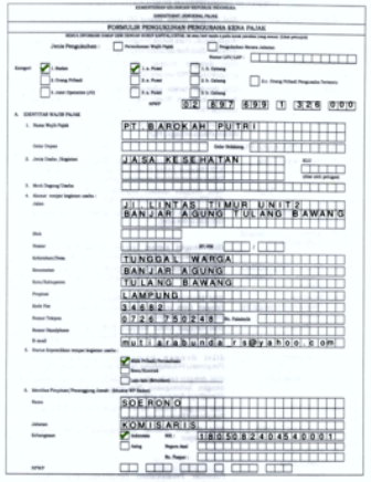 Cara Mengisi Form Formulir Pendaftaran Pkp Terbaru Seputar Pajak