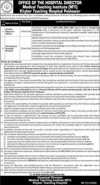 khyber-teaching-hospital-kth-peshawar-jobs-2020-advertisement