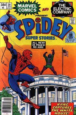 Spidey Super Stories #30, Kang