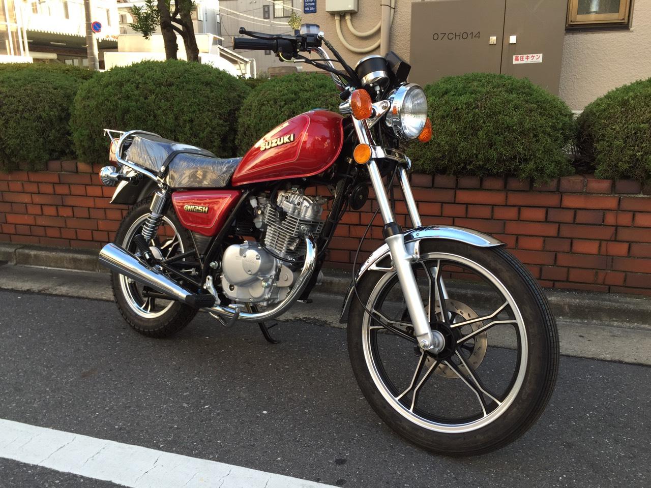 レンタルバイクのGN125H