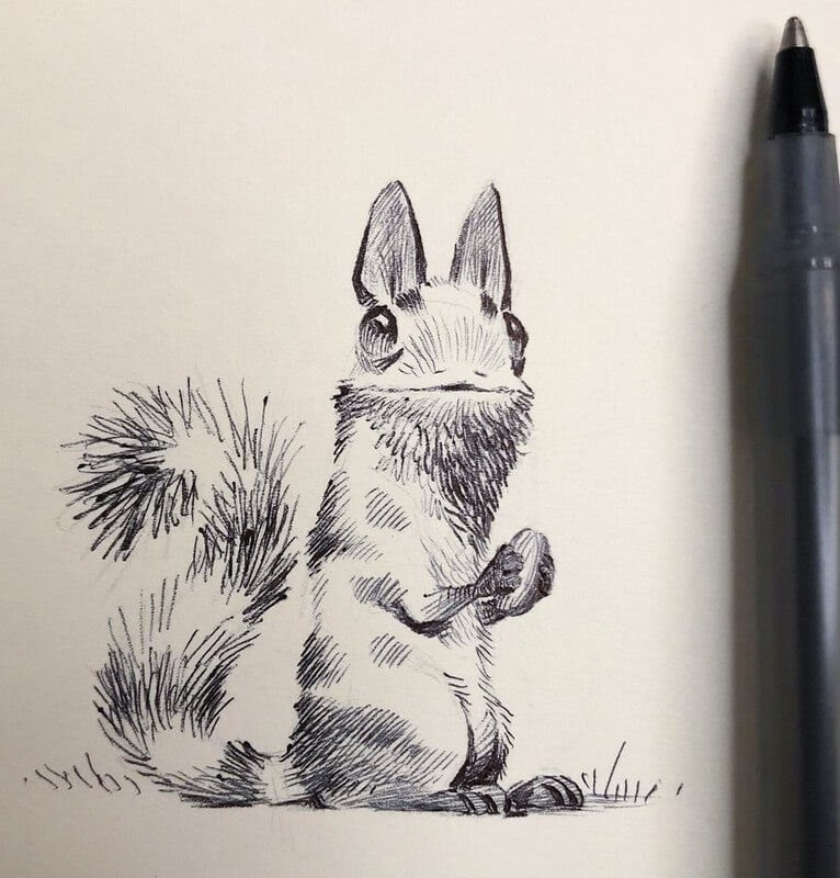 09-Bobby-Chiu-Fun-and-Cute-Ink-Fantasy-Animals-www-designstack-co