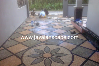 Jasa tukang lantai batu sikat tangerang,  bsd, serpong, jasa lantai carport tangerang,  batu coral, ampyangan