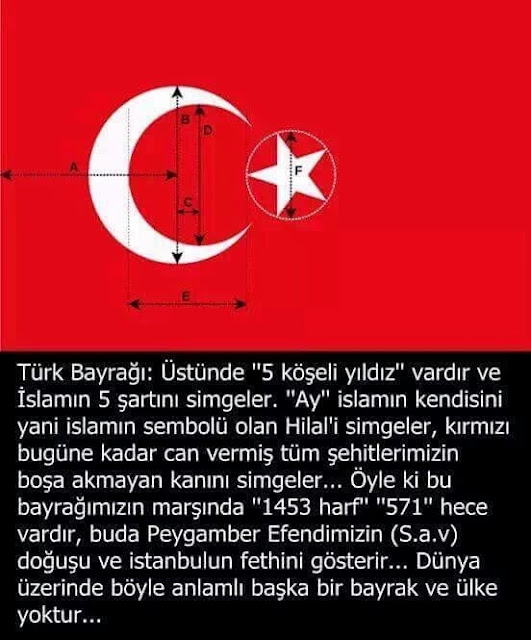 türk bayrağının anlamı