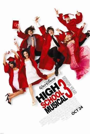 High School Musical 3: Senior Year 2008 480p 300MB BRRip Dual Audio
