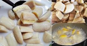 วิธีทำกล้วยบวชชี ให้สีสวยน่าทาน ไม่ดำ กล้วยน้ำว้า หนึบๆ น้ำกะทิหอมๆมัน