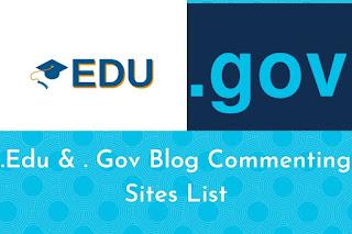 Dofollow edu & gov blog comment site list
