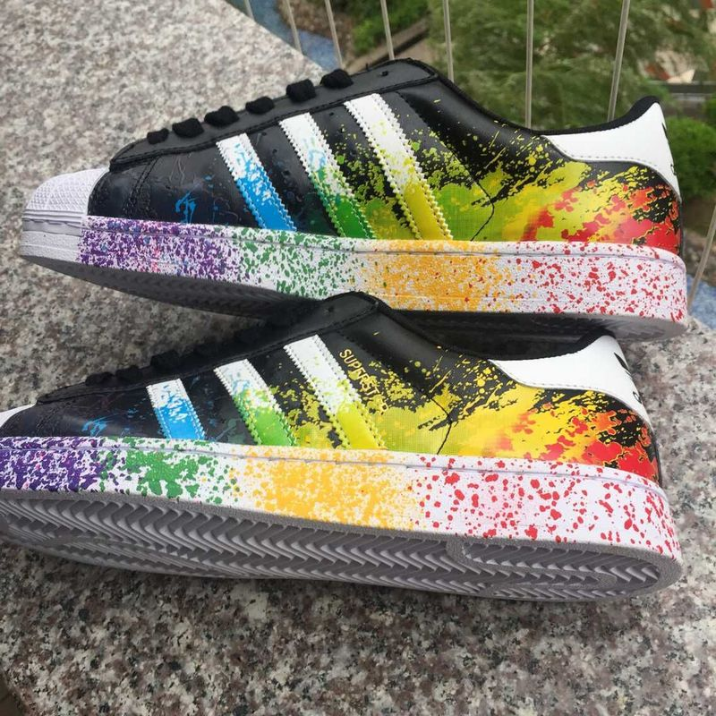 Adidas Superstar Rainbow Paint herbusinessuk.co.uk bf13299975db
