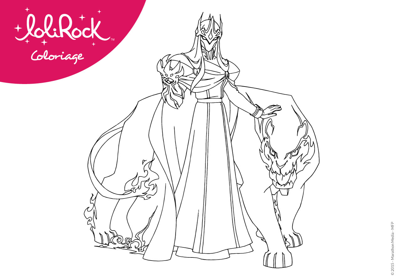 This is a graphic of Gutsy Lolirock Coloring Pages