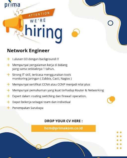 Lowongan Kerja Network Engineer