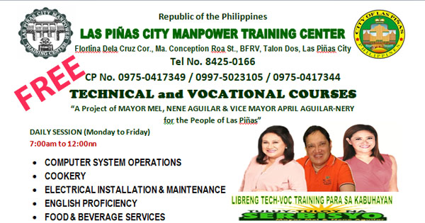 18 Free Technical & Vocational Courses (FREE Training by LPCMTC)