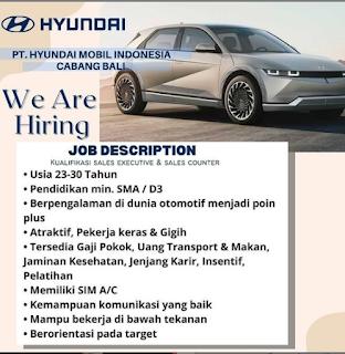 Lowongan Kerja HYUNDAI Bali