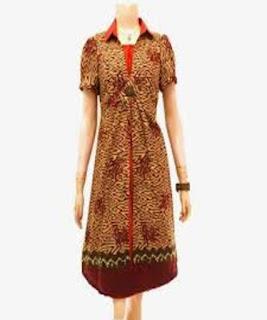 baju batik dress pendek remaja
