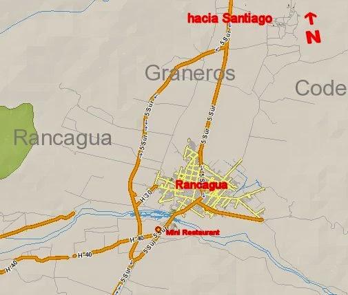Mini Restaurant Rancagua mapa regional