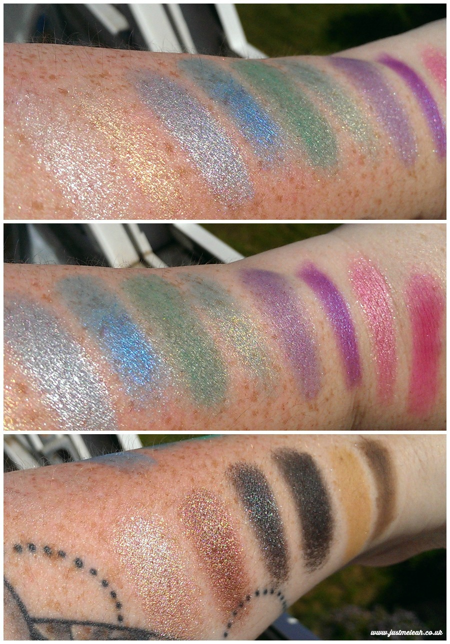 Makeup Revolution Sticks and Stones eyeshadow and brow palette swatches