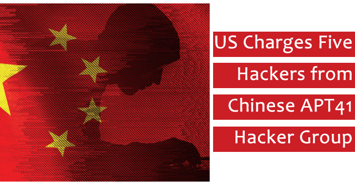 US Charges Five Hackers from Chinese APT41 Hacker Group for Hacking More than 100 Firms Globally