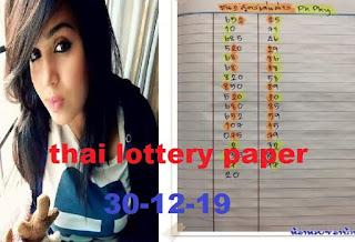 Thailand Lottery 3up Direct Number Facebook Timeline 30 December 2019