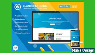 Template Blanter Landing, Template Blogger Landing Page Terbaik
