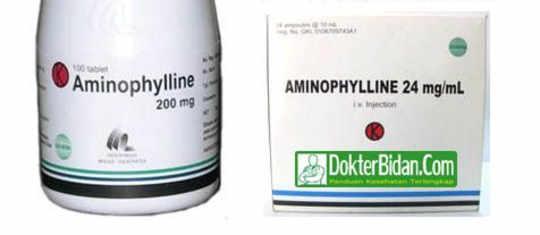 Aminofilin Alkaloid Tablet Ampul Injeksi - Info Obat Dosis Cara Memakai Dan Efek Sampingnya