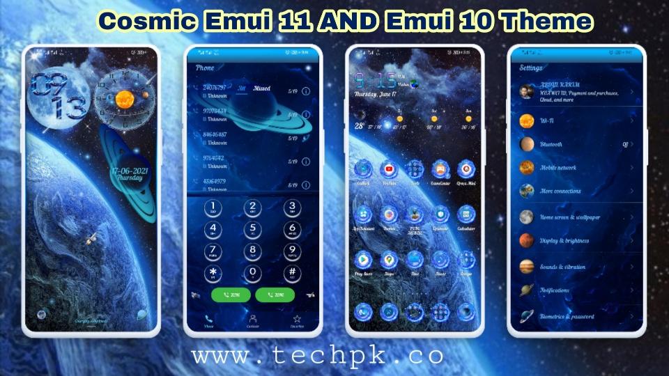 [Emui Theme] Best Cosmic Emui Theme For Emui 11 & Emui 10 & HarmonyOS