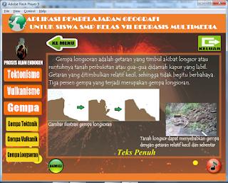 Aplikasi Pembelajaran Geografi Untuk Siswa SMP Kelas VII Berbasis Multimedia