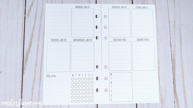 SewMuchCrafting - Week on Two Pages in Vertical Layout w. Checklist