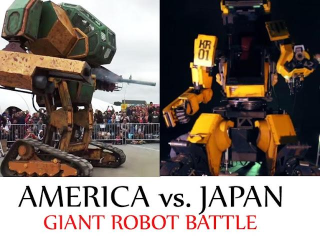 Keren! Jepang Terima Tantangan Duel Robot Giant Dengan Amerika