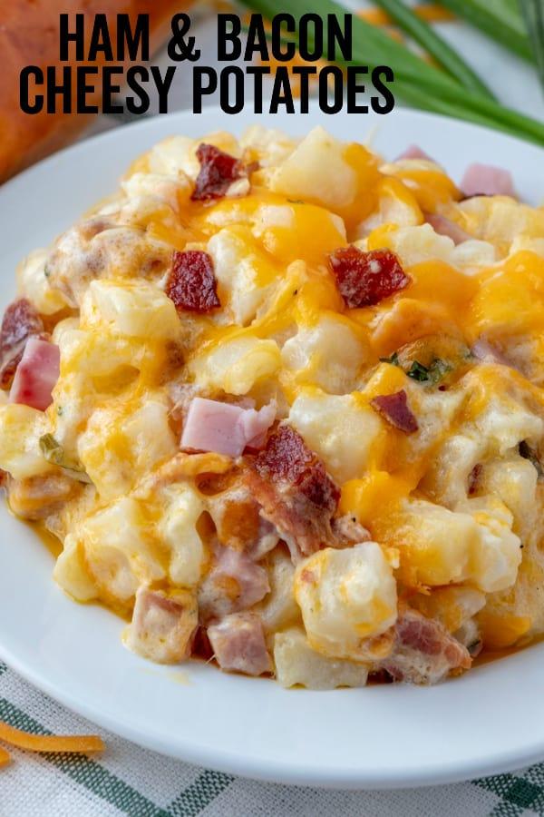 Ham & Bacon Cheesy Potatoes Recipes