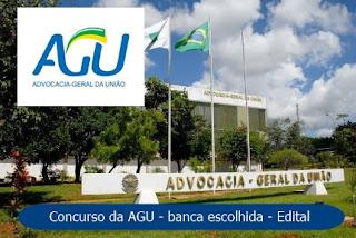 Concurso AGU 2018: Banca organizadora escolhida