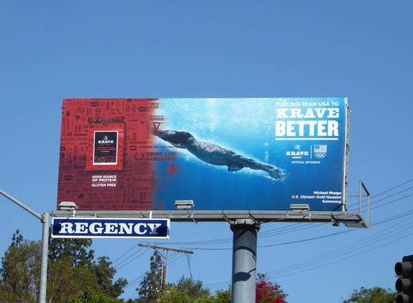 Krave beef jerky Olympics sponsor billboard