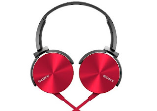 Sony MDR-XB450AP On-Ear EXTRA BASS Headphones with Mic (Red)