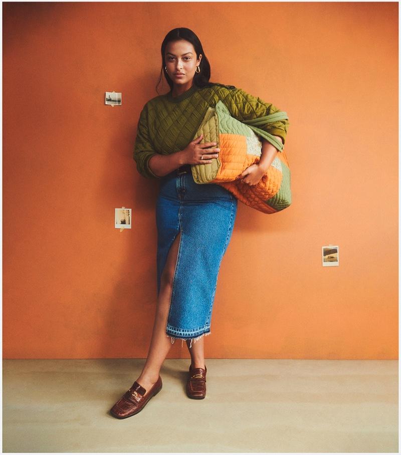 Devyn Garcia stars in Mango Family Portraits fall-winter 2021 campaign.