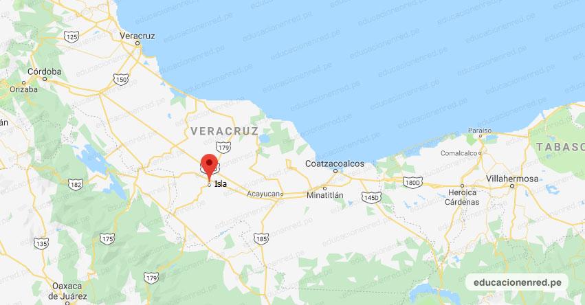Temblor en México de Magnitud 4.0 (Hoy Viernes 01 Mayo 2020) Sismo - Epicentro - Isla - Veracruz de Ignacio de la Llave - VER. - SSN - www.ssn.unam.mx