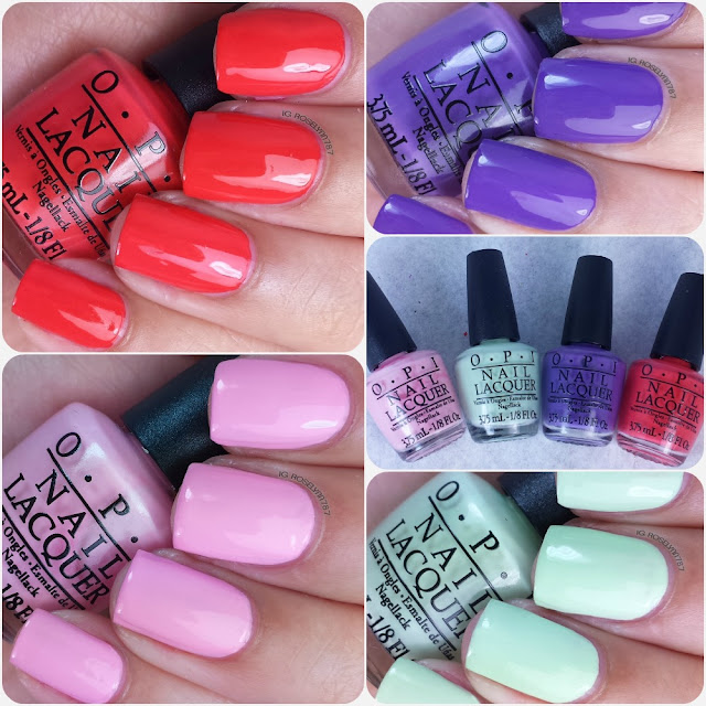OPI Spring 2015 Hawaii Mini Collection Swatches & Review