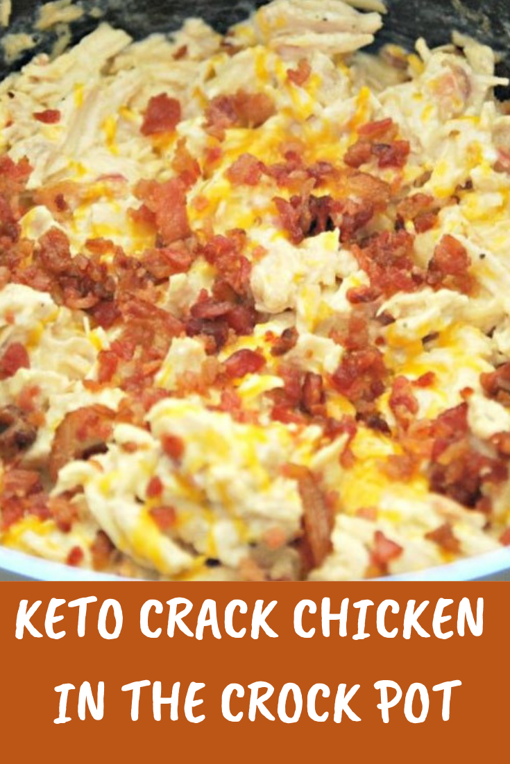 #Keto #Crack #Chicken in #the #CrockPot #Dinner #Lowcarb