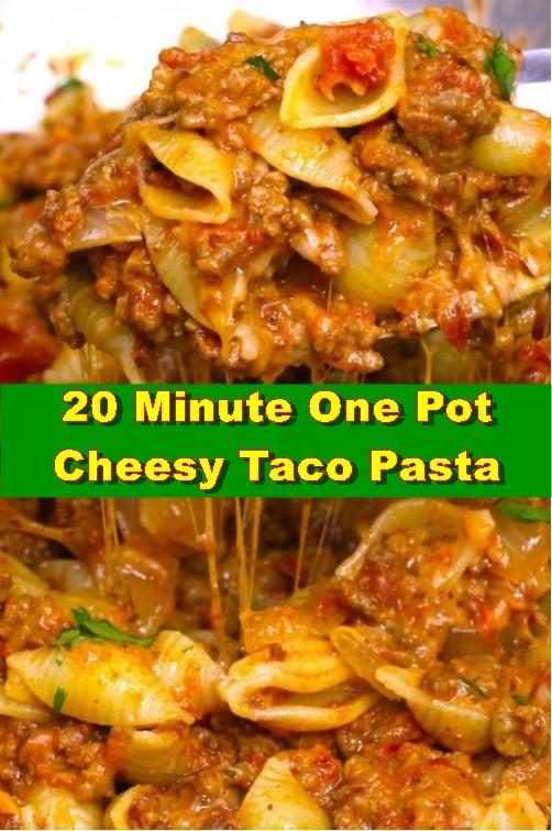20 Minute One Pot Cheesy Taco Pasta
